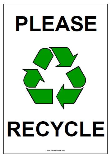 Free Printable Please Recycle Sign