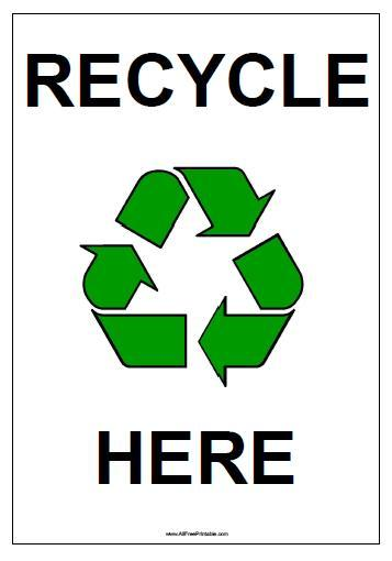 Free Printable Recycle Here Sign