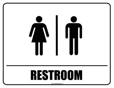 Current image in printable restroom signs