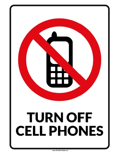 Free Printable Turn Off Cell Phone Sign