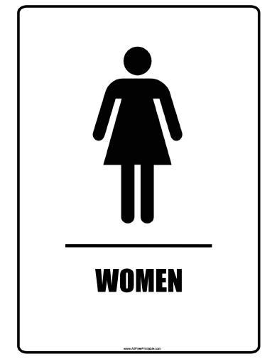 Women Bathroom Signs - Free Printable - AllFreePrintable com