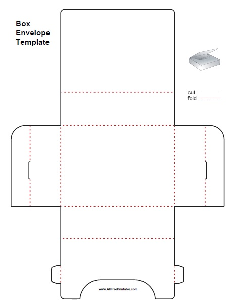 Free Printable Box Envelope Template