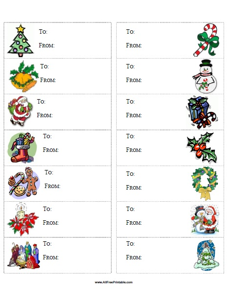 picture regarding Christmas Tag Free Printable called Xmas Present Tags - No cost Printable -
