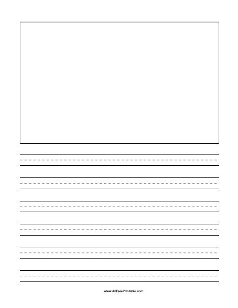 Free Printable Drawing Box Story Handwriting Paper