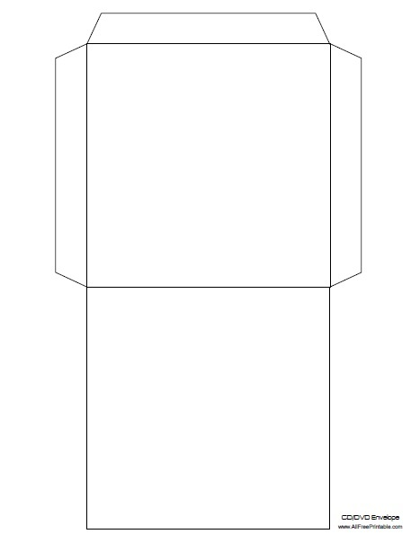 Dvd envelope template free printable for Free envelope printing template