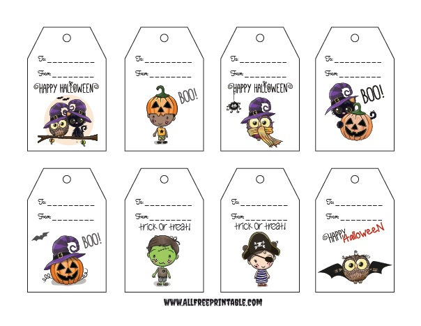 Gift Tags For Halloween Free Printable Allfreeprintable Com