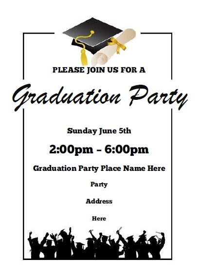 Graduation party invitations free printable for Senior announcement templates free