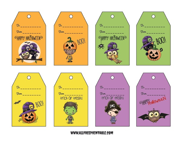 Halloween Gift Tags Free Printable Allfreeprintable Com