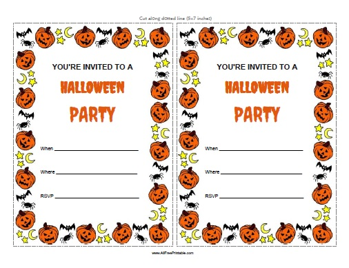 Halloween Invitations Free Printable Allfreeprintable Com