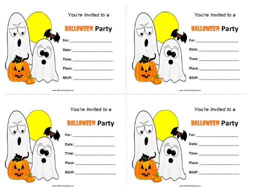 graphic regarding Printable Halloween Birthday Invitations known as Halloween Get together Invites - Absolutely free Printable