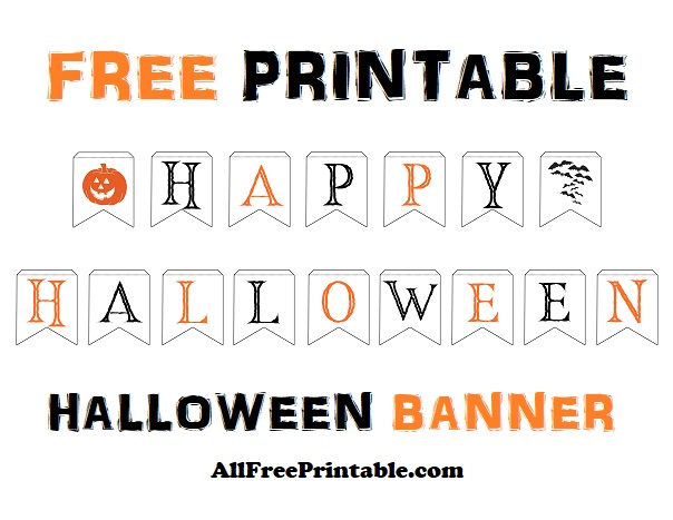 Free Printable Happy Halloween Banner