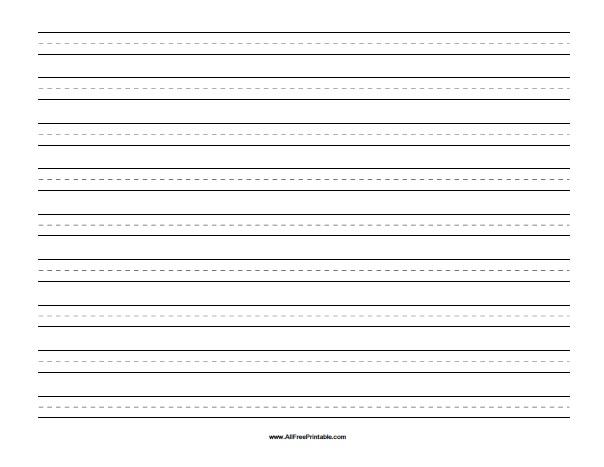 Landscape Handwriting Paper Free Printable