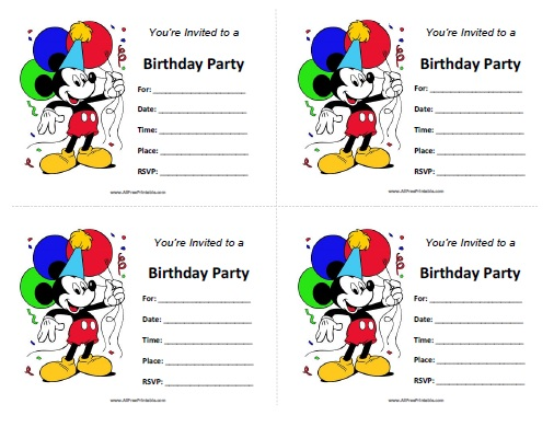 photograph about Free Printable Mickey Mouse Birthday Invitations called Mickey Mouse Birthday Invites - Cost-free Printable