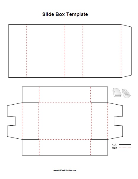 Free Printable Slide Box Template