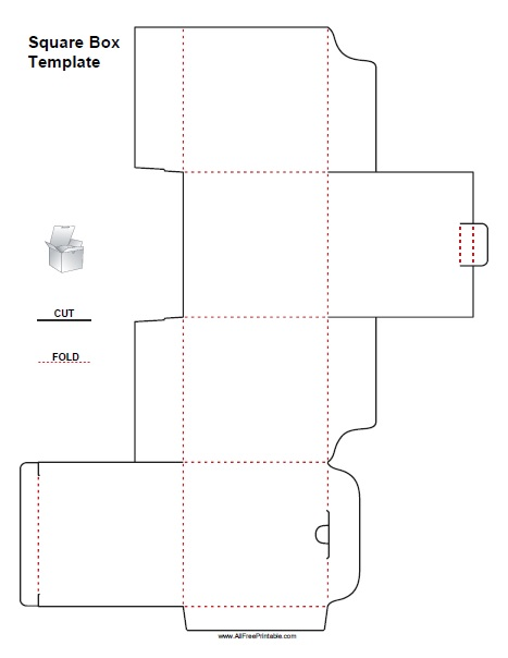Free Printable Square Box Template