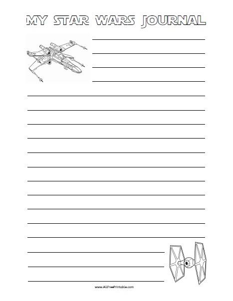Free Printable Star Wars Writing Paper