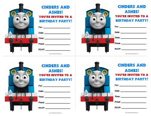 Free Printable Thomas Tank Engine Birthday Invitations