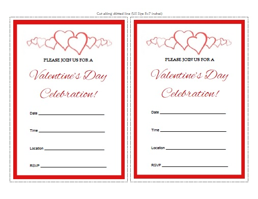 ValentineS Day Invitations  Free Printable  AllfreeprintableCom