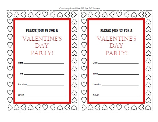 Valentines Day Party Invitations Free Printable
