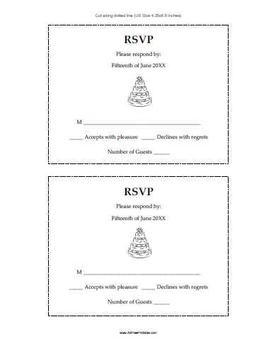 Free Printable Wedding Response Cards