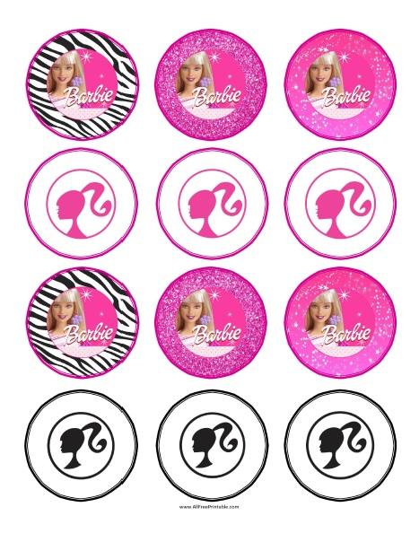 Free Printable Barbie Cupcake Toppers