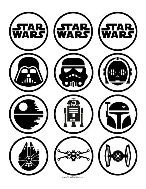 Free Printable Star Wars Cupcake Toppers