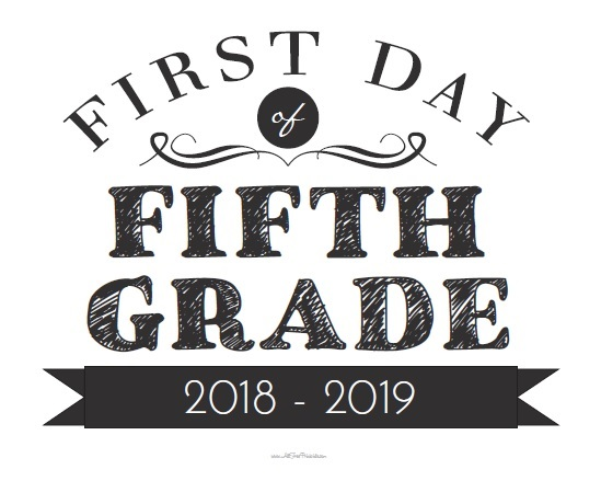 photo regarding First Day of School Sign Printable referred to as 1st Working day of College or university Symptoms - Cost-free Printable