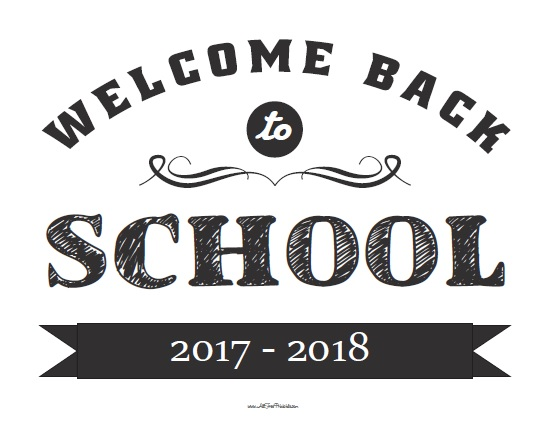Free Printable Welcome Back to School Sign