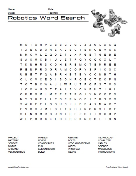 ... menu print robotics word search print robotics word search easy
