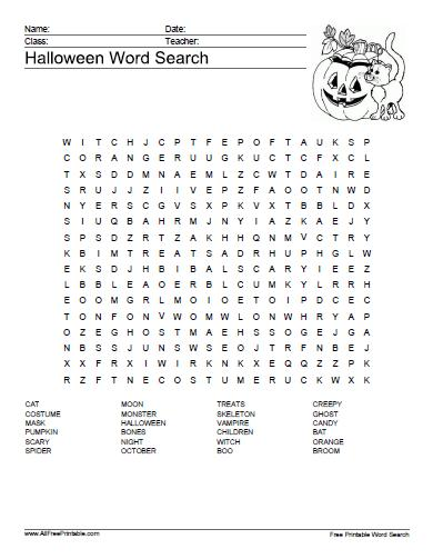 Free Printable Word Search