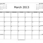 March 2013 Calendar