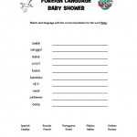 Baby Shower Foreign Language Game