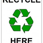 Recycle Here Sign