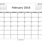 February 2016 Calendar