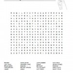 Famous Singers Word Search