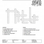 Summer Crossword Puzzle