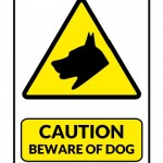 Caution Beware of Dog Sign