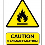 Caution Flammable Material Sign