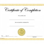 Completion Certificate