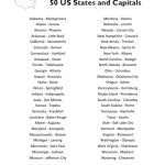 50 States and Capitals List