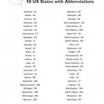 50 States and Capitals List - Free Printable - AllFreePrintable.com