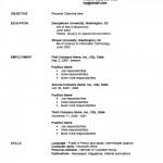 Employment Curriculum Vitae Template