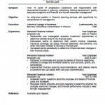 Financial Advisor Resume Template