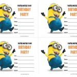 Minions Birthday Invitations