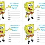Spongebob Birthday Invitations