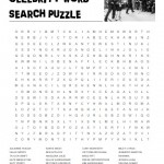 Celebrity Word Search Puzzle