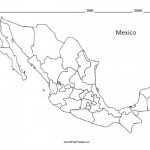 Mexico Blank Map