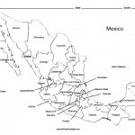 Mexico Labeled Map