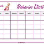 Barbie Behavior Chart