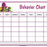 Barney Behavior Chart
